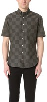 Gitman Brothers Short Sleeve Jacquard Check Shirt
