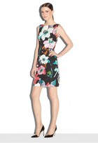 Milly Paper Floral Print Slim Midi Sheath