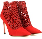 Jimmy Choo Maurice 100 cut-out suede ankle boots
