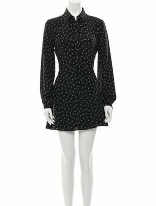 Saint Laurent Silk Mini Dress Black