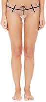Fleur Du Mal Women's Lolita Sheer Silk-Blend Mesh Bikini Briefs