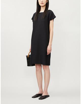 Issey Miyake Woody Ripple stretch-woven mini dress