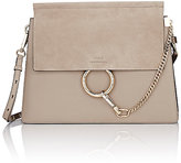 Chloé Women's Faye Medium Shoulder Bag-Grey