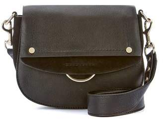Mint Velvet Blair Black Leather Saddle Bag