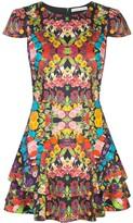 Alice + Olivia Alice+Olivia Ainsley double ruffle mini dress