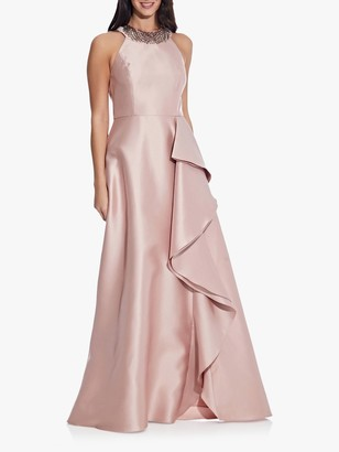Adrianna Papell Mikado Cascade Gown, Blush