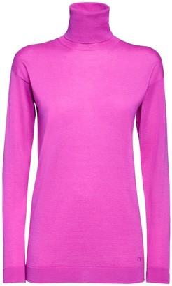 Valentino Cashmere & Silk Knit Turtleneck Sweater