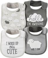 Carter's 4-pk. Lamb Bibs - Babies newborn-24m