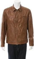 Brunello Cucinelli Distressed Leather Jacket