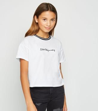 New Look Girls Make Today Amazing Slogan T-Shirt