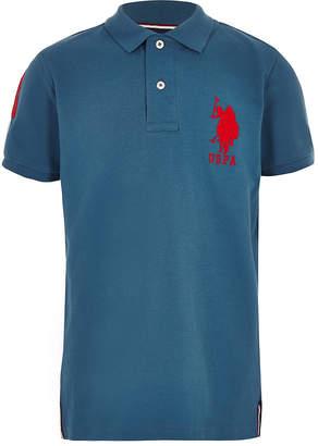 River Island Boys blue U.S. Polo Assn polo shirt