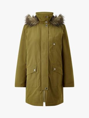 Four Seasons Caban Detachable Fur Trim Parka Jacket
