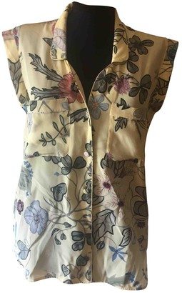 Gucci Yellow Silk Top for Women