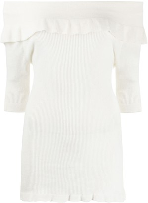 Snobby Sheep Off-The-Shoulder Knit Top