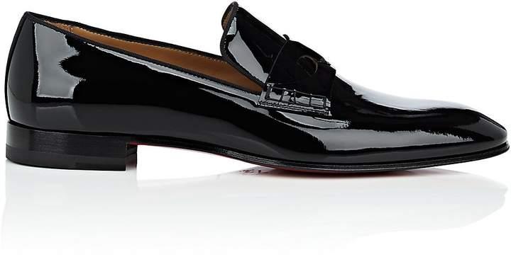 Christian Louboutin Men's Magicien Patent Leather Venetian Loafers