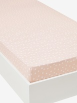 Fitted Sheet, Colourpatch Theme - pink/white, Furniture & Bedding | Vertbaudet