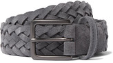 Andersons Anderson's - 3cm Grey Woven Suede Belt
