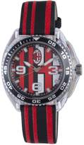 Chronotech Men's Black and Red Canvas Watch