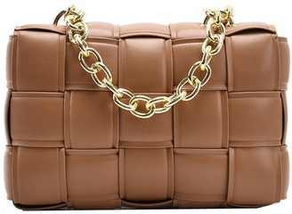 Goodnight Macaroon 'Maddie' Intrecciato Faux Leather Chain Strap Bag (4 Colors)