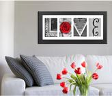 Imagine Letters 4-Opening 4 in. x 6 in. White Matted Black Photo Collage Frame