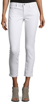 AG Adriano Goldschmied The Stilt Roll-Up Cropped Jeans, White