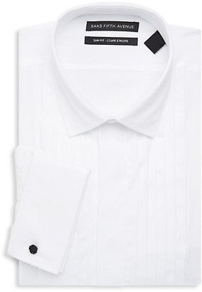 Saks Fifth Avenue Slim-Fit Cotton Tuxedo Dress Shirt