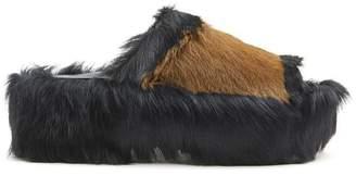 Marni Pony Wedge Sandals