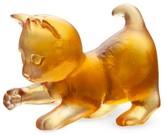 Daum Mini Playing Kitten Figurine