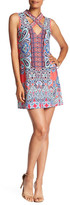 Trixxi Paisley Print V-Neck Shift Dress