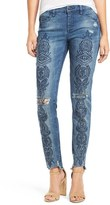 Blank NYC Women's Blanknyc Embroidered Skinny Jeans