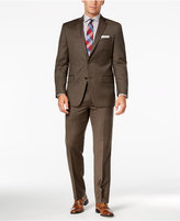 MICHAEL Michael Kors Men's Classic-Fit Brown Birdseye Suit