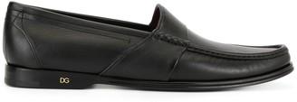Dolce & Gabbana Low-Heel Logo-Plaque Loafers