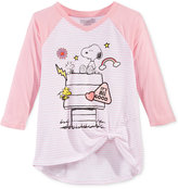 Hybrid Peanuts Snoopy T-Shirt, Big Girls (7-16)