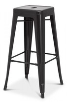 Apt2B Oxford Metal Counter Stool BLACK - SET OF 4