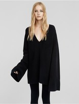 Calvin Klein Cashmere Boucl Flared Sleeve Sweater