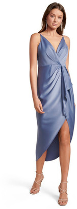 Forever New Adelina Waterfall Slip Midi Dress