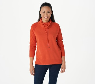 Women With Control Attitudes by Renee Weekend Chic Waffle Trim Hooded Tunic