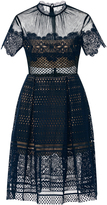 Self-Portrait Self Portrait Felicia Embroidered Sheer Lace Dress