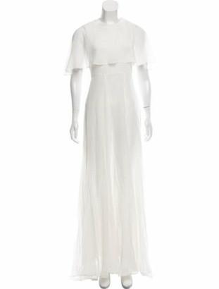 Giambattista Valli Silk Maxi Dress White