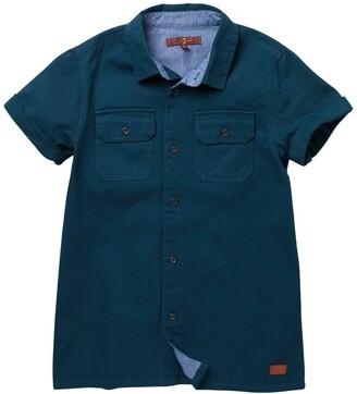 7 For All Mankind Short Sleeve Safari Twill Shirt