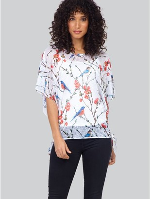 M&Co Izabel floral and bird print t-shirt