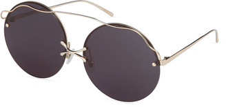 For Art's Sake Rimless Round Sunglasses