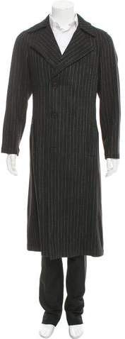 Chanel Striped Wool Overcoat