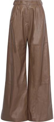Zimmermann Unbridled Leather Wide-leg Pants