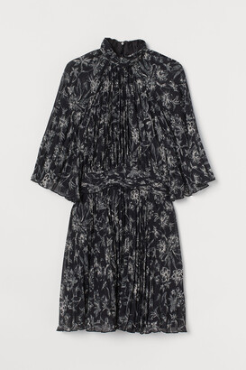 H&M Pleated Chiffon Dress