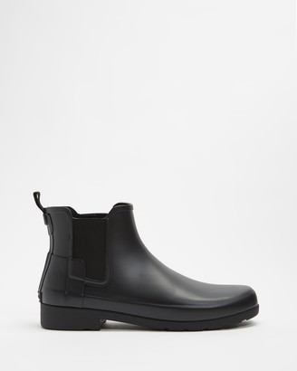 Hunter Women's Black Chelsea Boots - Original Refined Chelsea Boots - Women's - Size 5 at The Iconic