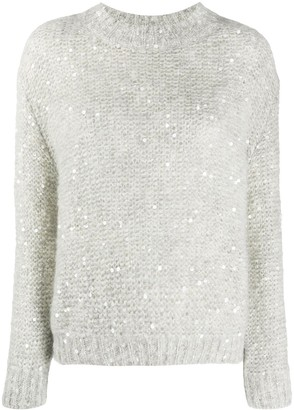 Brunello Cucinelli Sequin Embellished Jumper