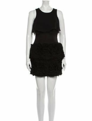 Jovani Scoop Neck Mini Dress Black