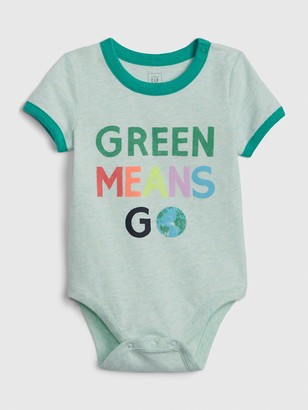 Gap Baby Organic Cotton Go Green Bodysuit