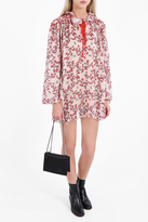 Giamba Floral Print Poncho Dress